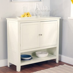 TMS - Montego Buffet, Antique White - Storage and extra surface area are essential in a family eating area. In my family, we avoid putting hot side dishes and pitchers (that can be knocked over) on the table while eating, preferring to put them to the side for safety's sake. This is one of the best value sideboards I've seen, and it would fit unobtrusively in most decor styles.