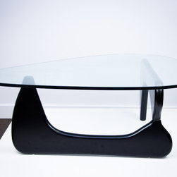 "IFN Modern - Noguchi Style Coffee Table - Overall Dimensions: 15.75"" H x 49.2\"" W x 35.4\"" D"