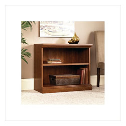Sauder - Sauder Camden County 2-Shelf Bookcase in Planked Cherry - Sauder - Bookcases - 101782 - This bookcase is a practical addition to any home or office with an adjustable shelf, this bookcase will add style and storage to any room. Planked Cherry finish.