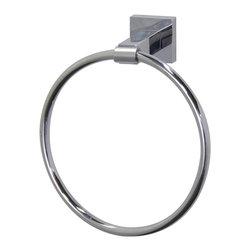 VIGO Industries - VIGO Allure Square Design Hand Towel Ring, Chrome - The VIGO Allure Square Design Hand Towel Ring in Chrome will allow you to easily keep a towel within reach.