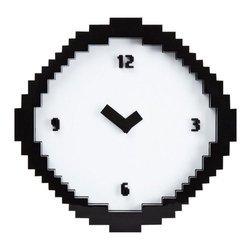 Pixel Time Wall Clock - This Pixel Time Wall Clock recalls all those wonderful video games of years past.