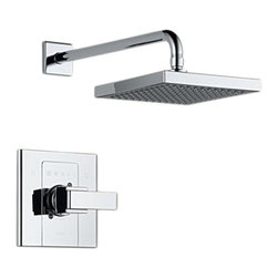 Delta - Delta T14286-SHQ Arzo Monitor 14 Series Shower Trim (Chrome) - Delta T14286-SHQ Arzo Collection has a bold angular shape and for a comtemporary addition to your home. The Delta T14286-SHQ is a Monitor Shower Only Trim in Chrome.