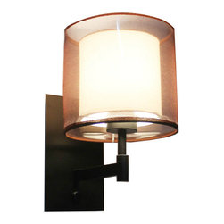 Country Double Gauze Shade Iron Wall Sconce -