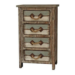 Nantucket 4 Drawer Weathered Wood Chest - Nantucket 4 Drawer Weathered Wood Chest 19.25 x 13 x 31.25