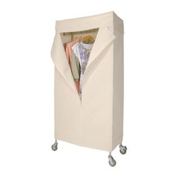 "Richards Homewares - Garment Rack 36"" Metro with Canvas Cover - Protect your clothes from bugs and dust with the heavy duty wardrobe. Perfect to use as an extra closet or storage for your out-of-season clothes. With natural canvas cover, each shelf can hold up to 150lbs and comes with commercial grade casters."