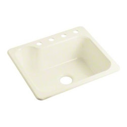 """STERLING PLUMBING - STERLING Maxeen(R) Single-basin Kitchen Sink, 25"""" x 22"""" x 8-3/8"""" - The Maxeen single-basin kitchen sink offers dependable performance in a variety of colors to match any kitchen d�cor. The unique basin shape accounts for those large pots and pans with extra long handles."""