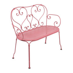 1900 Collection 2204 Bench by Fermob - This whimsical bench reminds us of turn of the century design in France, and is hand-forged by a blacksmith in France, carrying on the tradition of design and craftsmanship.