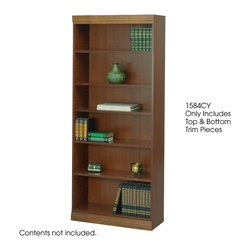 "Safco - Veneer Bookcase Trim Kit, 36W"" - Cherry - To add a finished look of distinction, order a Traditional Trim Kit.; Features: Material: Solid Wood; Color: Cherry; Finished Product Weight: 5 lbs.; Assembly Required: Yes; Tools Required: No; Limited Lifetime Warranty; Dimensions: 36""W x 3/4""D x 3""H"