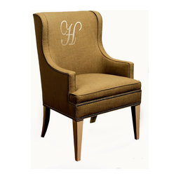 """Jack Host Chair - angle - 25""""W x 24""""D x 41""""H seat height 22"""" arm height 25"""""""