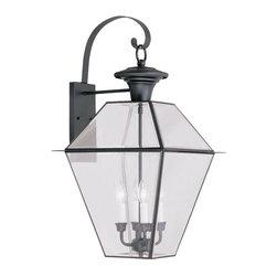 Livex Lighting - Livex Lighting Outdoor Sconce Lighting Westover, Black - Livex Lighting 2386-04 Outdoor Sconce Lighting Westover.