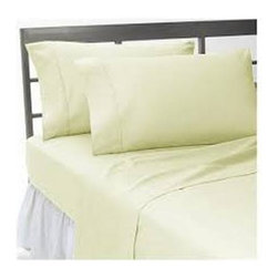 Hothaat - 400TC Solid Ivory Short Queen Fitted Sheet & 2 Pillowcases - Redefine your everyday elegance with these luxuriously super soft Fitted Sheet. This is 100% Egyptian Cotton Superior quality Fitted Sheet that are truly worthy of a classy and elegant look.