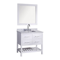 Eviva - Natalie Fabrico Bathroom Vanity, White, 30, With Mirrors - Classic yet elegantly modern, the Natalie Fabrico bathroom vanity is a bold statement and a meaningful centerpiece for any bathroom. Inspired by the contemporary American design ethic and crafted without compromise, these vanities are designed to complement any decor, from traditional to minimalist modern.