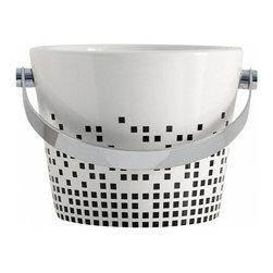 Scarabeo - Decorative Ceramic Bucket Bathroom Sink - Modern style vessel bathroom bucket sink.
