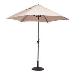 Contemporary Patio Umbrella - Beat the sticky, sweltering heat in style with the Contemporary Patio Umbrella. The UV and water-resistant fabric means rain or shine, you'll keep your cool and wits about you.