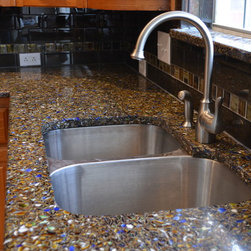 Vetrazzo Recycled Glass Countertop - Surface Decor created a beautiful ...