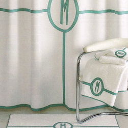"Matouk - Parterre Tub Mat - WHITE/KHAKI (BATH MAT) - MatoukParterre Tub MatDetails625 GSM white Egyptian cotton terry.Sateen applique detail and single initial in your choice of colors.Monogram in style shown.24"" x 36"".Machine wash.Made in Portugal.You will be able to specify personalization details after adding item(s) to your shopping cart. Orders for personalized items cannot be canceled and personalized items cannot be returned.Designer About Matouk:The son of a jeweler John Matouk understood the principles of fine workmanship and quality materials. After studying fine fabrics in Italy he founded Matouk in 1929 as a source for fine bed and bath linens. Today the third generation of the Matouk family guides the company whose headquarters were relocated to the United States from Europe during World War II. Matouk linens are prized worldwide for their uncompromising quality and hand-finished detailing by skilled craftsmen."