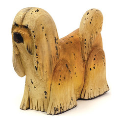 Wooden Shaggy Dog - Shaggy Dog sculpture is made from wood and has hand painted finish.It is a inspiring piece that brings charm and style to your home decor.