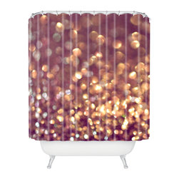 DENY Designs - Lisa Argyropoulos Mingle 1 Shower Curtain - Who says bathrooms can't be fun? To get the most bang for your buck, start with an artistic, inventive shower curtain. We've got endless options that will really make your bathroom pop. Heck, your guests may start spending a little extra time in there because of it!