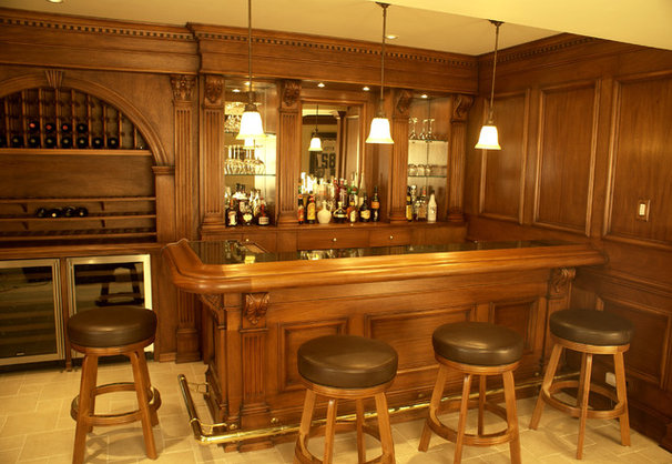 Traditional Basement by WL INTERIORS