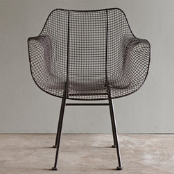 """Biscayne Wire Chair - Brown (Set of 2) - Perfect indoors or out, this epoxy coated wire chair combines retro design with trendy industrial materials . Really cool with a round dining table. Light assembly required. This unique, line of products, draws inspiration from a mix of the old and the new fused together to create a pleasing harmony of unique and handcrafted items for the home. Dimensions: 27""""w x 24""""d x 31.5""""h"""