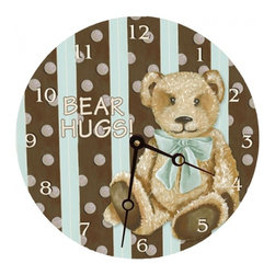 """Cocoa Cabana Teal Round Wall Clock, 18"""" - Round clocks are the perfect size for any wall. Great in the kitchen, bathroom, or kids room. Teach your kids to tell time the """"old fashioned"""" way while adding a touch of art to the room."""