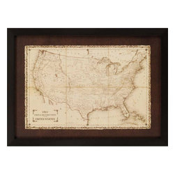 Paragon - American Posts/Forts 1861 - Framed Art - Each product is custom made upon order so there might be small variations from the picture displayed. No two pieces are exactly alike.