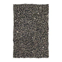 """Chandra - Plush Stone 7'9""""x10'6"""" Rectangle Gray-Dark Gray Area Rug - The Stone area rug Collection offers an affordable assortment of Plush stylings. Stone features a blend of natural Gray-Dark Gray color. Handmade of New Zealand Wool the Stone Collection is an intriguing compliment to any decor."""