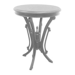 EuroLux Home - New Bistro Table Gray Painted Hardwood Round - Product Details