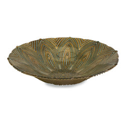 iMax - Harding Glass Bowl - Perfect for any occasion, the Harding glass serving bowl is food safe and can be used to serve a favorite dish or to display a variety of materials.