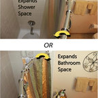 Shower Rods - Rotatable Curved Shower Rods- no drilling required! Custom sizes available!