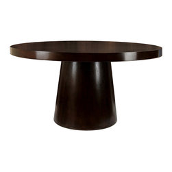 Furniture of America - Furniture of America Amari Espresso Round Dining Table - This sophisticated round dining table features a beautiful, rich espresso colored finish. Made of durable hardwoods, this table will last for years to come. At 30 inches high x 60 inches in diameter, it fits nicely into many dining areas.