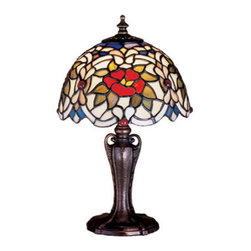 Meyda Tiffany - Meyda Tiffany 30313 Stained Glass / Tiffany Accent Table Lamp Renaissan - Copperfoil CollectionTable Lamp1 Candelabra bulb, 40w (max)