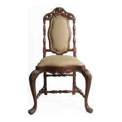 Indo-Portuguese Rosewood Upholstered Side Chair - Ref: CH1403