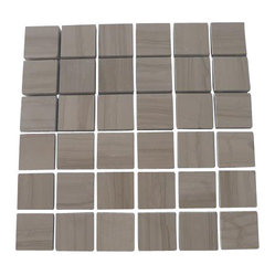 Athens Gray-Honed Marble Tile - It's all about marble tile these days. Simplify your tile installation — and your life — with this marble mosaic tile. Its mesh backing lets you separate the tiles for more design options.