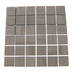 Athens Gray Honed 2x2 Marble Tile - It's all about marble tile these days. Simplify your tile installation — and your life — with this marble mosaic tile. Its mesh backing lets you separate the tiles for more design options.