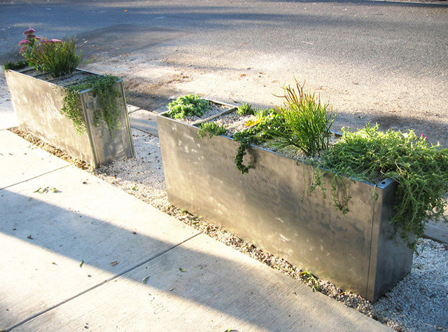 Modern Gardening Tools Structural planters from repurposed filing cabinets