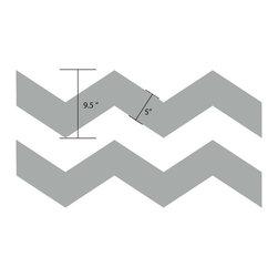 "Dana Decals - Chevron Pattern Wall Decal - Dimensions: 144""w x 9.5""h each chevron"