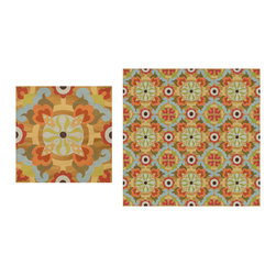 "Mirth Studio's ""Whimsy"" Hardwood Floor Tile on Natural Wood Background -"