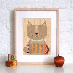 Petit Collage Purrfect Cat - Print on Wood - Purrfect Cat - Print on Wood