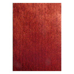 Rug - ~5 ft. x 7 ft. Red Area Rug for Living Room Made In Tibet, Shaggy & Hand-tufted - Living Room Hand-tufted Shaggy Area Rug