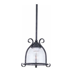 Sea Gull Lighting - 1-Light Mini-Pendant Weathered Iron - 6145-07 Sea Gull Lighting Manor House 1-Light Mini-Pendant with a Weathered Iron Finish