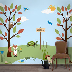 My Wonderful Walls - Forest Friends Wall Stencil Kit for Painting - - 29 individual forest kids wall mural stencils