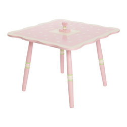 Levels of Discovery - Rock-A-My-Baby Table - Delicate floral tabletop with pretty scallop design Heart-shaped handle opens to reveal a special place for treasures and a music box plays Rock A Bye BabyFloral design. Scalloped edges. Secret compartment with music box. Plays Rock A Bye Baby. All products have instructions included for assembly
