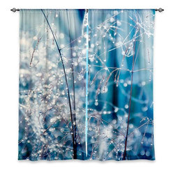 """DiaNoche Designs - Window Curtains Lined - Monika Strigel Galaxy Dew - Purchasing window curtains just got easier and better! Create a designer look to any of your living spaces with our decorative and unique """"Lined Window Curtains."""" Perfect for the living room, dining room or bedroom, these artistic curtains are an easy and inexpensive way to add color and style when decorating your home.  This is a woven poly material that filters outside light and creates a privacy barrier.  Each package includes two easy-to-hang, 3 inch diameter pole-pocket curtain panels.  The width listed is the total measurement of the two panels.  Curtain rod sold separately. Easy care, machine wash cold, tumbles dry low, iron low if needed.  Made in USA and Imported."""