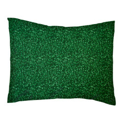 SheetWorld - SheetWorld Twin Pillow Case - Percale Pillow Case - Hunter Green Petals - Pillow case is made of a durable all cotton percale material. Fits a standard twin size pillow. Features a Hunter Green Petals print.