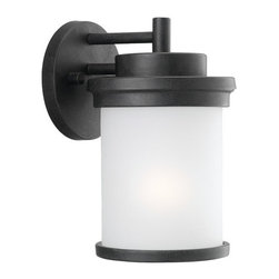 "Sea Gull Lighting - Sea Gull Lighting 88660 Single Light Small Outdoor Wall Sconce from the Winnetka - Single Light Outdoor Wall Sconce from the Winnetka CollectionClean design lends itself to ""modern-mission"". Geometric, cylinder design needs little ornamentation to offer big styleDetails:"