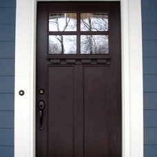 Traditional Front Doors by Hiday Custom Builders, LLC