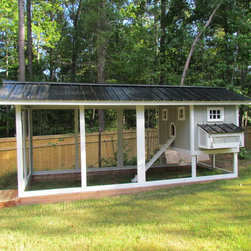 Carolina Coops- Penthouse Chicken Coop - Carolina Coops, PENTHOUSE is the coop of all coops!  This self contained backyard chicken coop is the best for the smallest of yards and busiest of families or homesteaders alike!  Check out our web site or give us a call!  919.794.3989