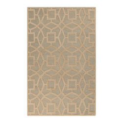 "Surya - Surya Dream DST-1170 (Beige) 3'3"" x 5'3"" Rug - With sophisticated and fashionable designs, the Dream Collection features a series of transitional and traditional flavors of the present. Hand tufted from 100% New Zealand wool and individually hand washed, these rugs radiate a luster that will animate any room. The unique splendor and antique finish on these rugs is achieved through special herbal washing techniques."