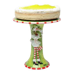 ATD - 10 3/8 Inch Red, White and Green Ruby the Poodle Cake Stand - This gorgeous 10 3/8 Inch Red, White and Green Ruby the Poodle Cake Stand has the finest details and highest quality you will find anywhere! 10 3/8 Inch Red, White and Green Ruby the Poodle Cake Stand is truly remarkable.